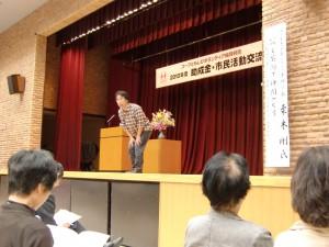 講師の栗木氏。身を乗り出して、熱く語っていただきました。